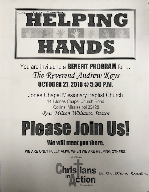 Benefit Program for Rev. Andrew Keys