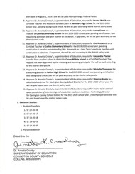 Notice of Special Called Board Meeting page 2