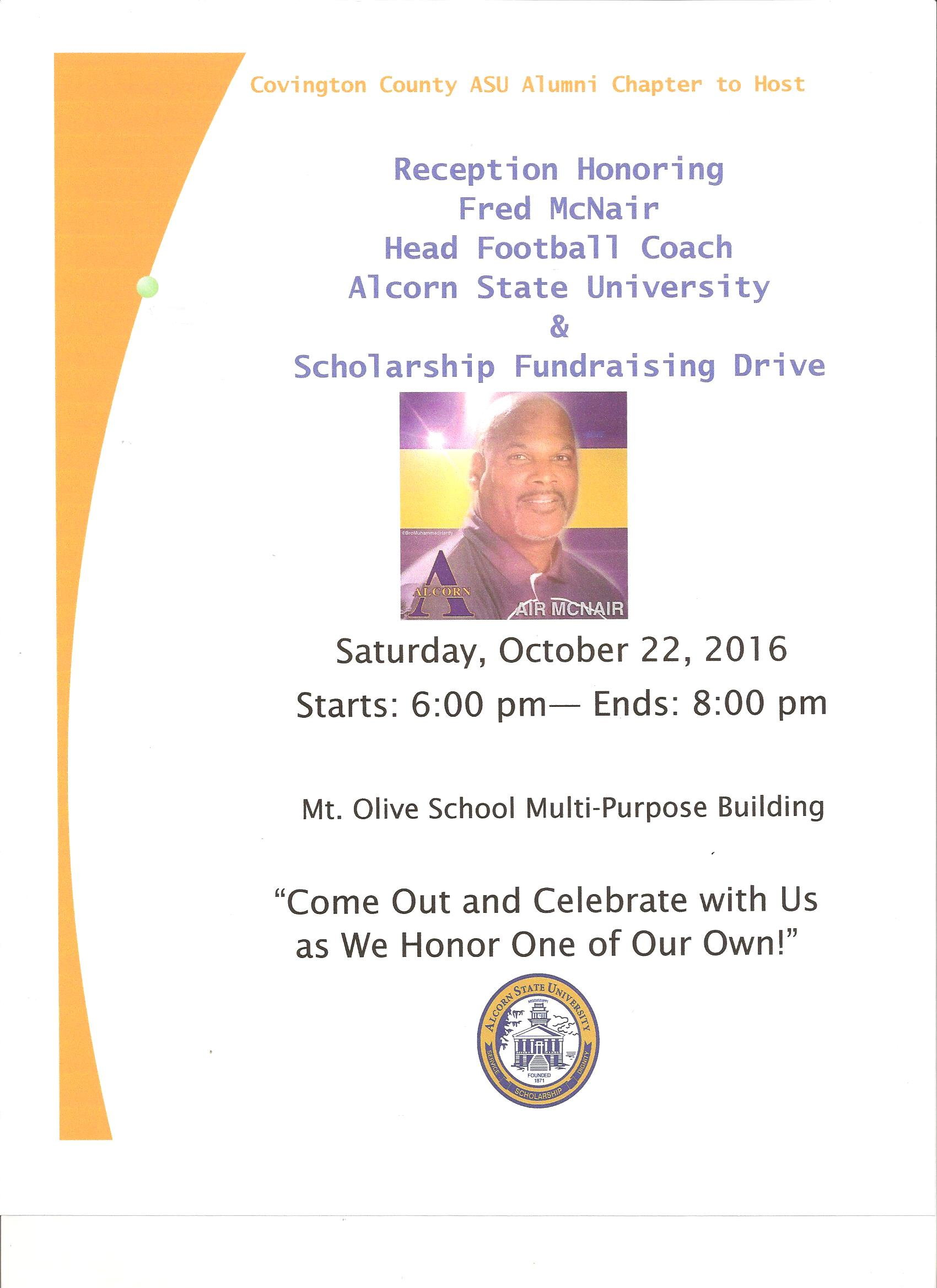 MOAC Reception to Honor Coach Fred McNair