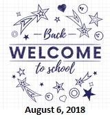Welcome Back To School 2018